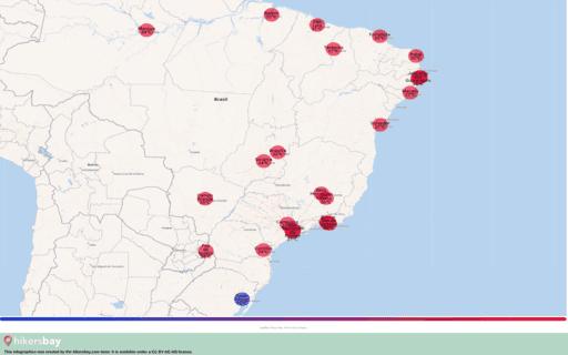 Weer in Brazilië in September 2020. Reisgids en adviezen. Lees een overzicht over het klimaat. hikersbay.com