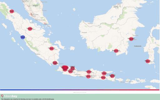 Das Wetter in Indonesien in September 2020. Reiseführer mit Infos zu Klima und Ratschläge. Lesen Sie einen Überblick über das Klima. hikersbay.com