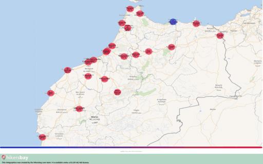 Vejret i Marokko i September 2020. Rejseguide og råd. Læs en oversigt over klimaet. hikersbay.com